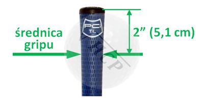 Rozmiar średnica gripu kija golfowego - gdzie mierzyć grubość gripu