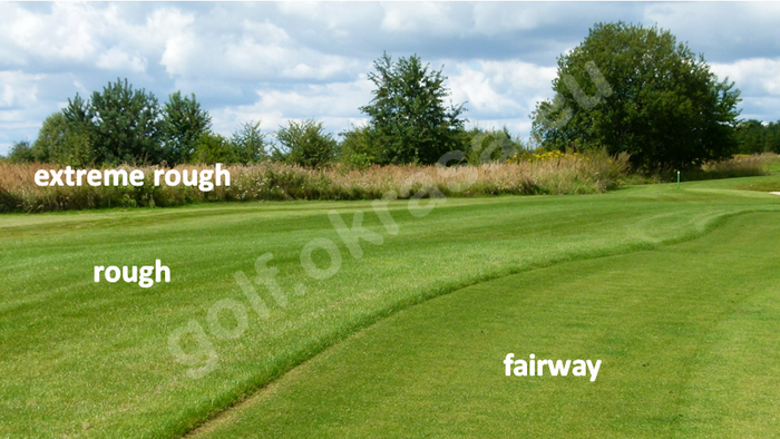 fairway , rough and extreme rough