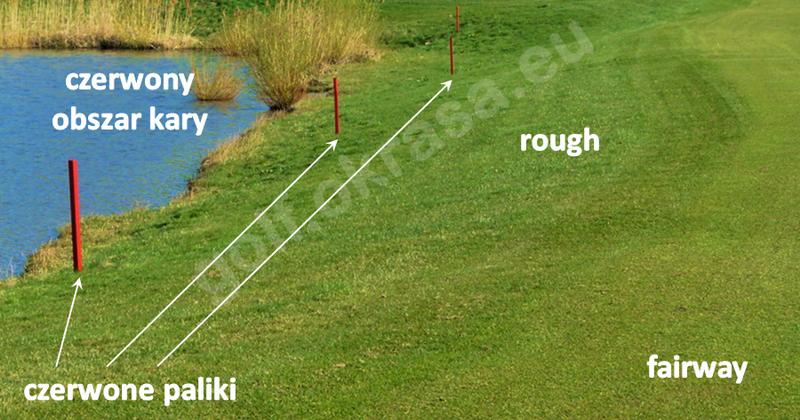 obszar kary czerwony boczny w golfie