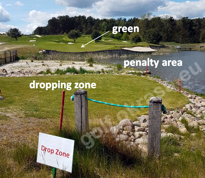 dropping zone / drop zone on a golf course