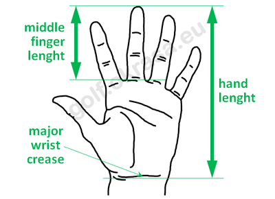 Measurement of a golfer's hand dimensions