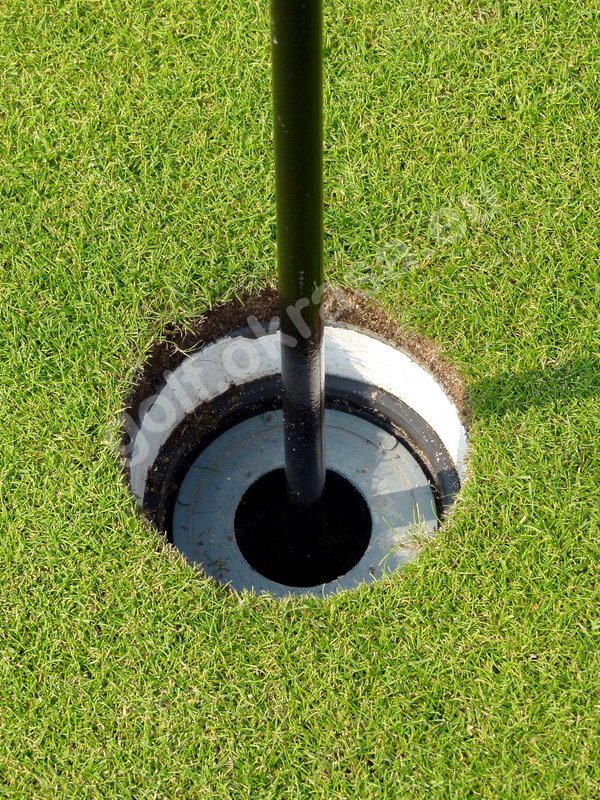 Reducing the depth of a golf hole