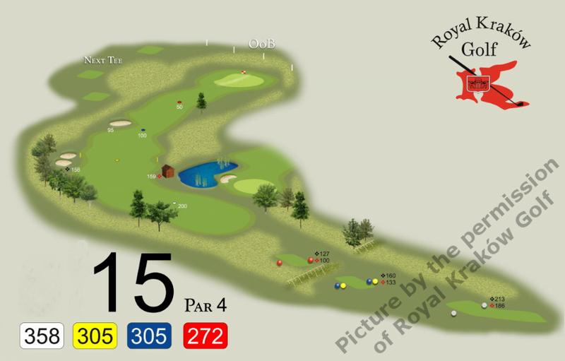 Golf hole in birdie book