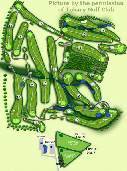 layout of holes of a golf course