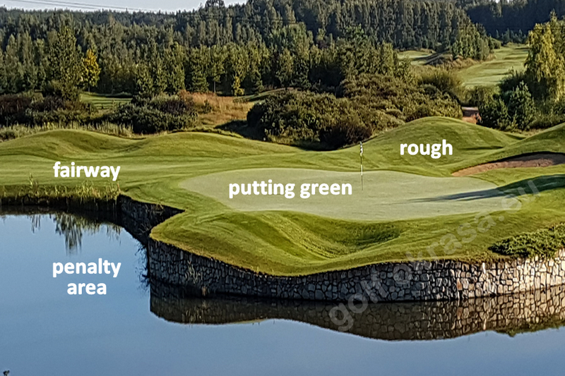 putting green on a golf course